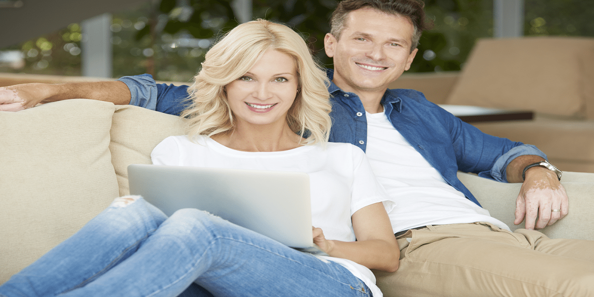 comfort pro heating and cooling couple on the internet
